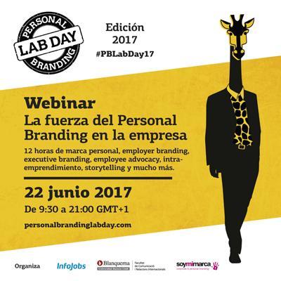 Personal Branding Lab Day 2017 webinar La fuerza del personal branding en la empresa