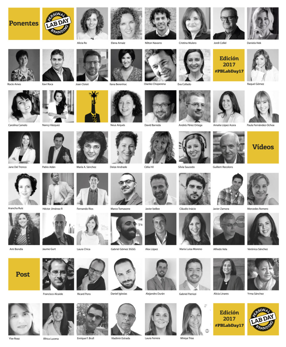 Dia protagonistes del Personal Branding Lab 17