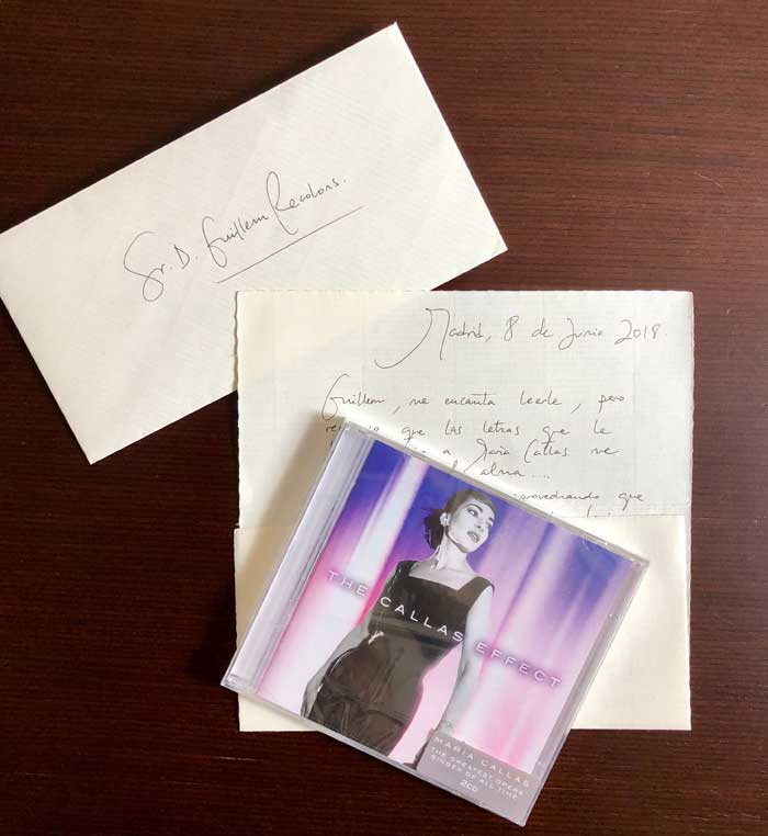 La carta de Julia Arrellano, mezzosoprano