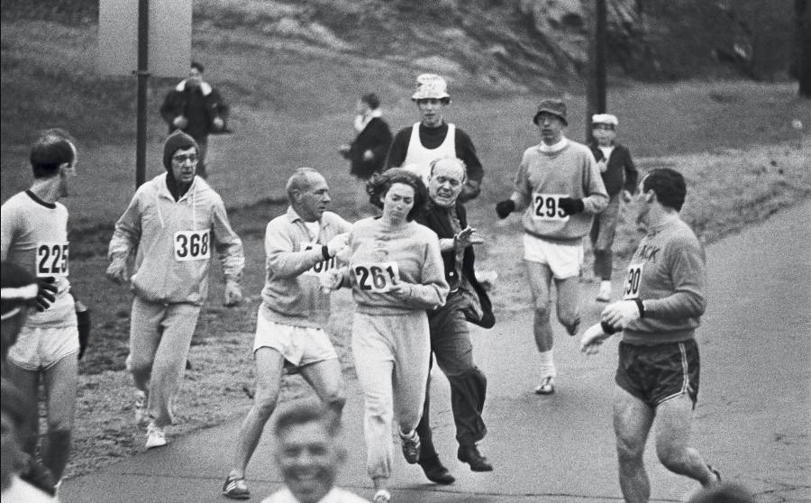 Kathrine Switzer Marathon. Harry Trask, Boston Herald, 1967