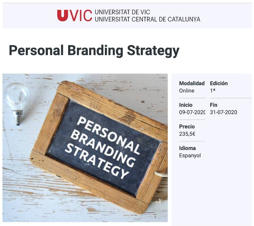 Personal Branding Strategy, UVic UCC