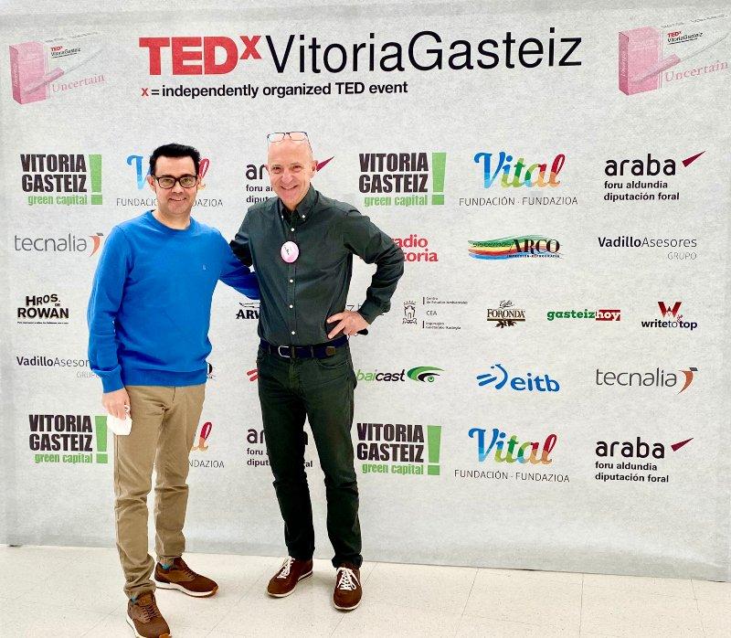 Celestino Martinez and Guillem Recolons at TEDx Vitoria Gasteiz 2021